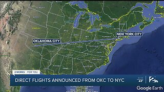 Direct flights announced from OKC to NYC