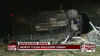 Juvenile driver transported to hospital after north Tulsa rollover crash