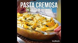 Creamy Pasta in Tomato Sauce
