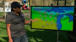 Temperatures dropping after a warm weekend