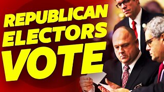 Republican electors cast their votes to continue the legal fight.