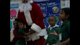 High school students surprise an entire elementary school with Christmas presents