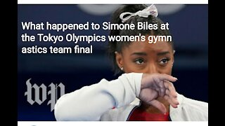 What happened to Simone Biles at the Tokyo Olympics women's gymnastics team final