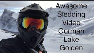 Awesome Sledding Video Gorman Lake Golden B.C.