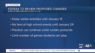 KSHSAA to review proposed changes