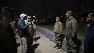 Military Occupation of U.S. Capitol - Secretary of Defense Christopher Miller Briefing with Troops