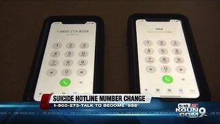 New change to suicide hotline number