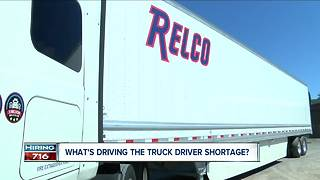What's driving the truck driver shortage?