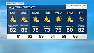 Cooler weather Saturday with a chance of afternoon showers