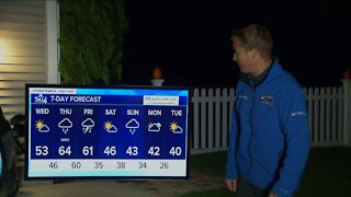 Cloudy Wednesday, highs near 50 with rain on the way tonight