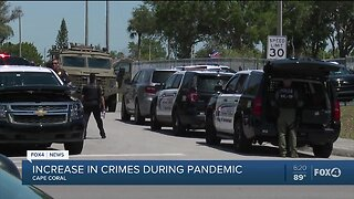 Increase in crimes during pandemic