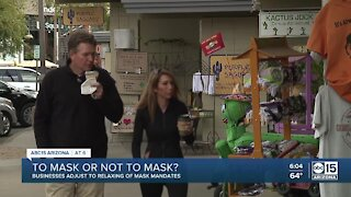 Valley businesses adjust to relaxing of mask mandates