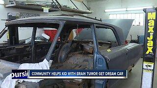 Community members help teen with brain tumor restore dream car