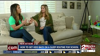 How to get kids back on a sleep routine for school