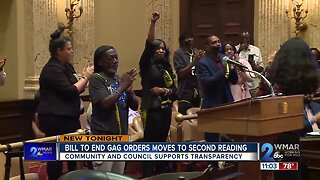 Baltimore City Bill to end gag orders moves forward