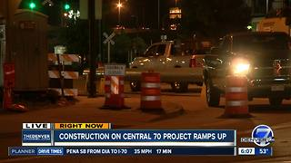 Construction on Central 70 project ramps up