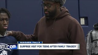 Bills player encourages young teens who have a story he can relate to