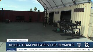 Rugby team prepares for the Olympics
