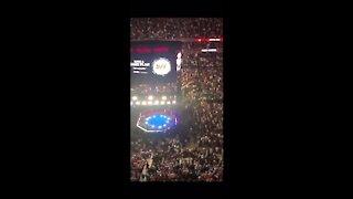 Crowd erupts when trump walks into UFC 264 event