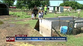Family loses home they built to flooding