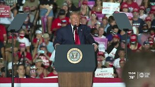 President Trump returns to campaign trail at rally in Sanford