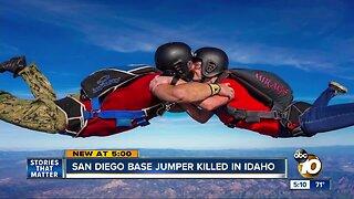 San Diego BASE jumper killed in Idaho jump