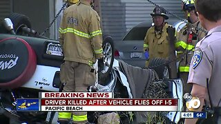 Driver killed after vehicle flies off I-5 in Pacific Beach