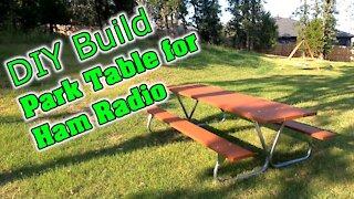 Build a Picnic Table Park Bench | For Ham Radio & Grilling Picnics