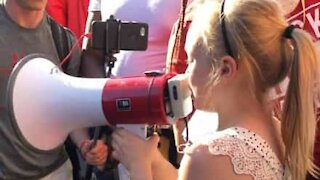 9-year-old gives emotional speech during Black Lives Matter protest
