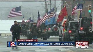 Snow doesn't stop canceled Tulsa Veteran's Day Parade
