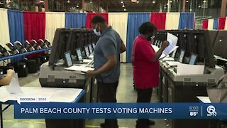 Palm Beach County elections officials test voting machines