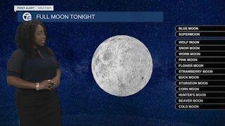 Full moon Tuesday night