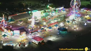 Drone captures stunning visuals of carnival in Texas