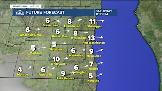 Sunny skies Friday with highs near 50