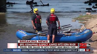 Bakersfield Police Department: Kidnapping suspect jumped into Kern River