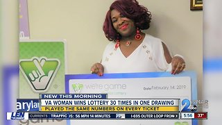 VA woman wins lottery 30 times in one drawing