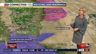 A Winter storm arrives Thursday afternoon