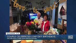 Couple celebrates Leap Day birthdays
