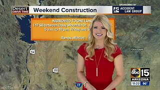 Weekend construction closes three sections of the Valley