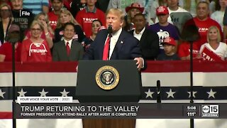 Former President Trump to attend rally in Arizona