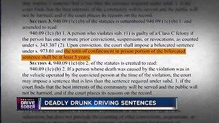 Legislation establishes mandatory deadly drunk driving sentences