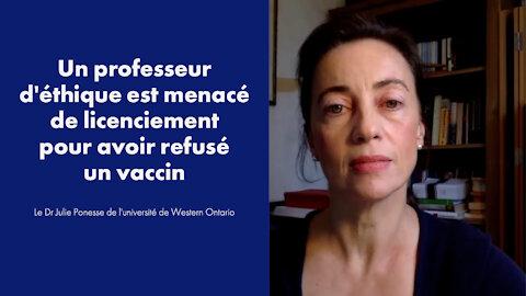 Un professeur d'éthique menacé de renvoi pour avoir refusé un vaccin