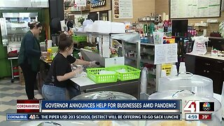 Kansas governor announces help for businesses amid pandemic