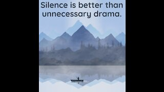 Silence is better than drama [GMG Originals]