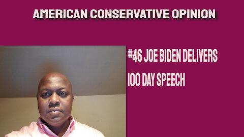 #46 Joe Biden delivers 100 day speech
