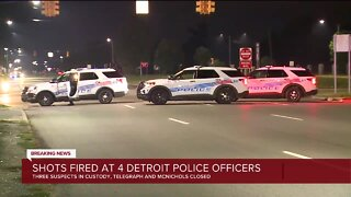 Shot fired at 4 Detroit police officers