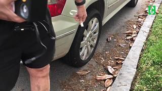 Clark Cam: Clark gets a flat tire