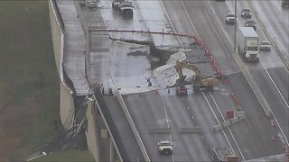 Video shows Highway 36 continues to collapse