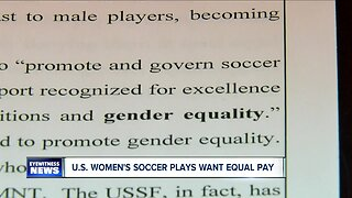 U.S. women soccer players in midst of equal pay fight