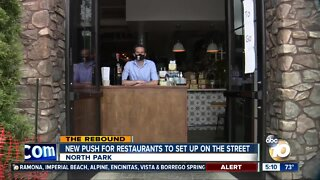 New push for restaurants to set up on the street